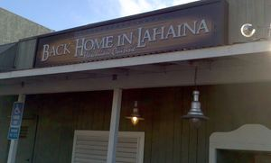 Back entrance to Back Home in Lahaina in Manhattan Beach