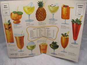 Drink menu from Luau in Miami Beach