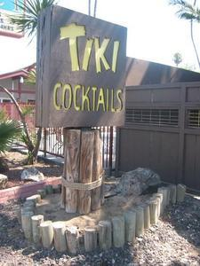 Sign at Tiki Cocktail Lounge in Modesto