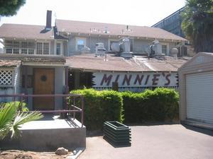 Rear entrance to Minnie's in Modesto