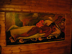 Art at Aloha Polinesian Bar in Barcelona