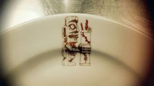 One of two serving plate logos at Jardin Tiki in Montreal