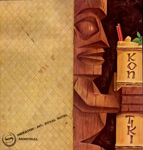 Menu cover from Kon-Tiki in Montreal