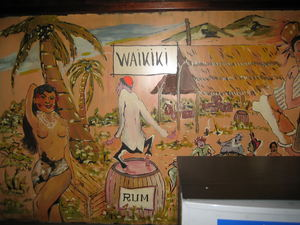 Artwork at entrance to Waikiki in M�nchen
