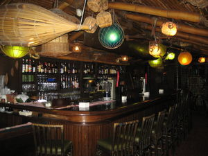 The bar at Trader Vic's in M�nchen