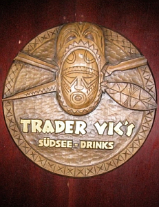 Logo sign at the Trader Vic's in Munich