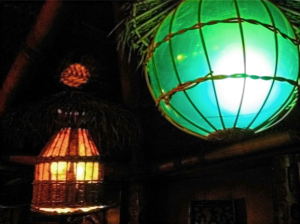 Light fixtures at Trader Vic's in Munich