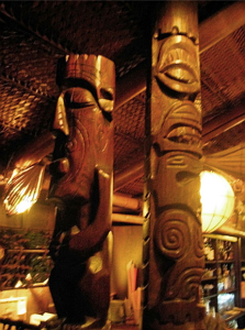 Tikis at the Trader Vic's in Munich
