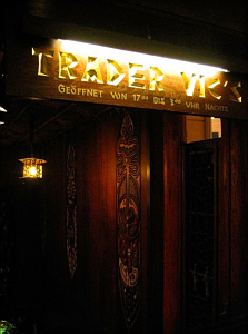 Sign for the Trader Vic's in Munich