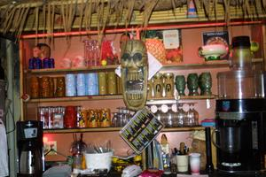 Tiki mugs at Otto's Shrunken Head in New York