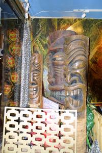 Tikis at Otto's Shrunken Head in New York