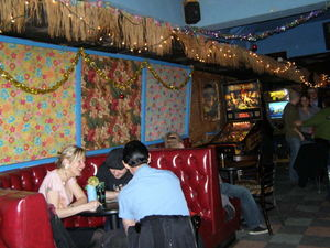 The front room at Otto's Shrunken Head in New York