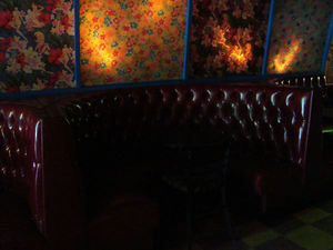 Booth at Otto's Shrunken Head in New York