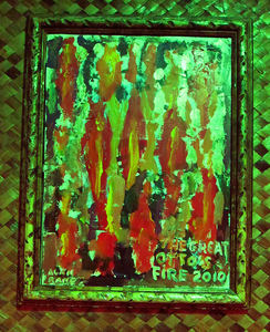 Art inspired by the fire at Otto's Shrunken Head in New York