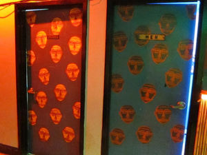 The restrooms at Otto's Shrunken Head in New York