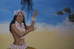 Mural at Waikiki Wally's in New York