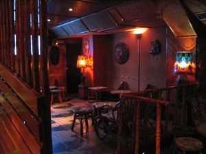 Interior of bar at Kahala in Barcelona