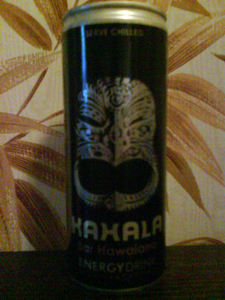 Energy drink can from Kahala in Barcelona