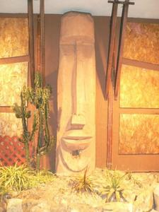 Moai in front of Tonga Hut in North Hollywood