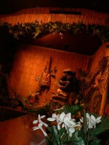 Tiki in corner at Tonga Hut in North Hollywood