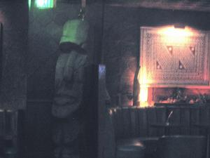 Moai near the entrance at Tonga Hut in North Hollywood
