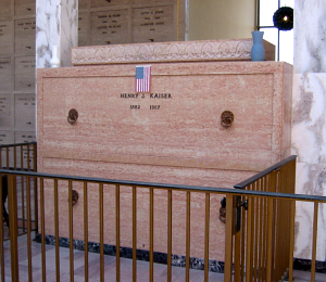 Tomb of Henry J. Kaiser, found in the same mausoleum as Trader Vic