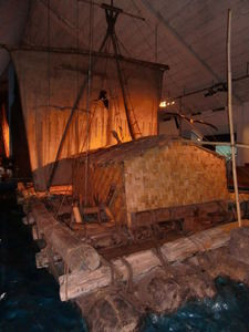 Rear of the Kon-Tiki raft at Kon-Tiki Museum in Oslo