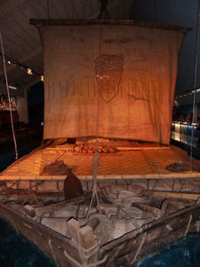 The Kon-Tiki raft at Kon-Tiki Museum in Oslo