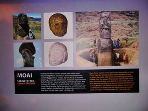 Moai exhibit at Kon-Tiki Museum in Oslo
