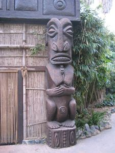 Tiki in the Polynesian Village at Port Aventura in Barcelona