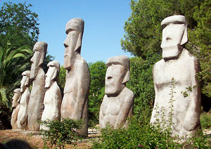 Moai at Port Aventura in Barcelona