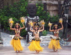 Polynesian and Hawaiian dance show at Port Aventura in Barcelona