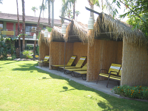 Palapa huts at Caliente Tropics Resort