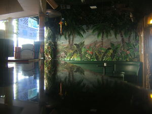 The bar at Toucans Tiki Lounge in Palm Springs