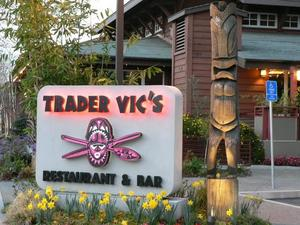 Sign for Trader Vic's in Palo Alto