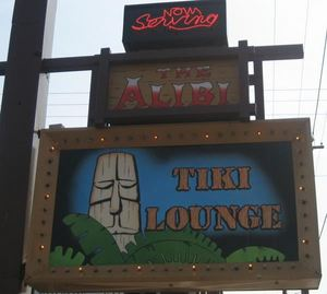Smaller sign at The Alibi in Portland