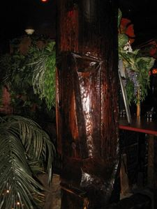Witco-lookalike tiki fountain at The Alibi in Portland