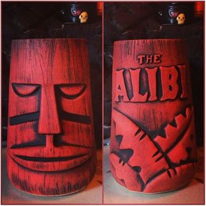 Limited edition tiki mug by Munktiki from The Alibi in Portland