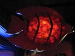 Fish lamp at the Alibi