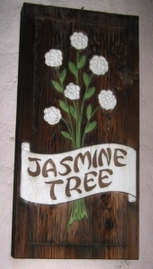 Sign from the Jasmine Tree exterior