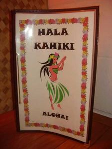 Drink menu from Hala Kahiki in River Grove