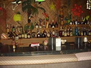 Behind the bar at Hala Kahiki in River Grove