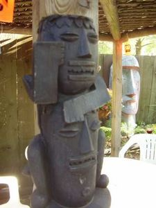 Resin tikis at Hala Kahiki in River Grove