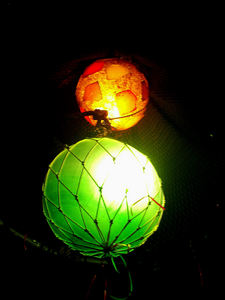 Float lights and resin light at Bahooka Ribs & Grog in Rosemead
