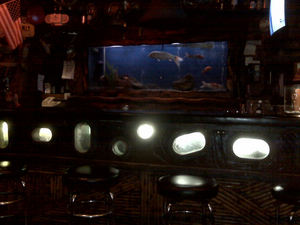 The aquarium bar at Bahooka Ribs & Grog in Rosemead