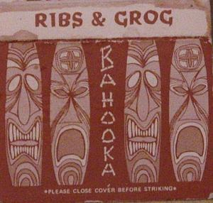 Matchbook from Bahooka Ribs & Grog in Rosemead