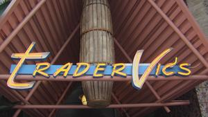 Entrance sign at Trader Vic's in Beverly Hills