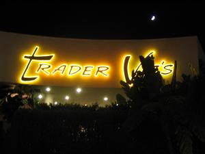 Sign for Trader Vic's in Beverly Hills