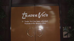 Entrance after the closure at Trader Vic's in Beverly Hills