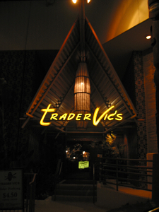 Entrance to the Beverly Hills Trader Vic's